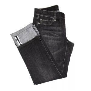 WHBM Black Denim Jeans Cropped Capris
